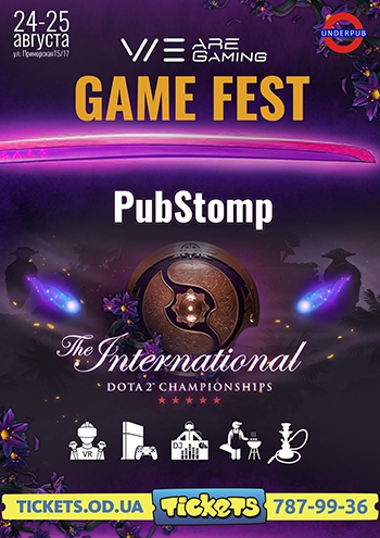 The GAME FEST Odessa PubStomp Dota2 International 2019